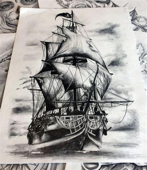 tatouage bateau pirate maison design apsip - Dessin Bateau Pirate Tatouage