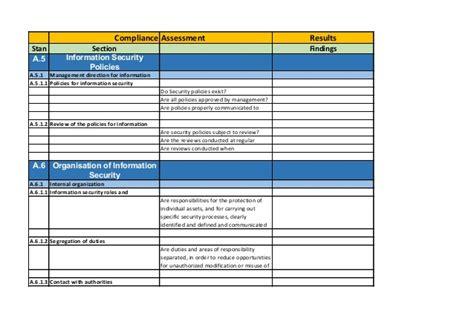 iso 27001 v2013 checklist