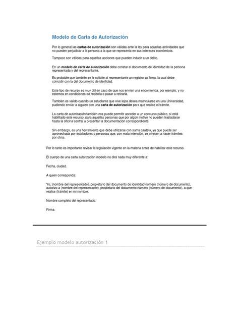 carta de autorizacion acudiente modelo de carta de autorizaci 243 n