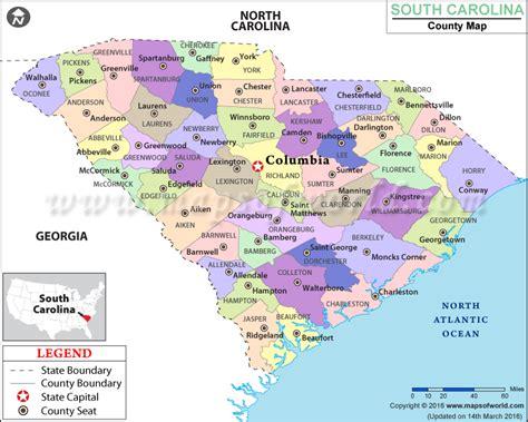 map of south carolina usa south carolina county map south carolina counties