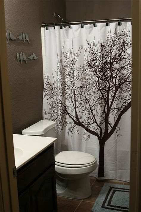 brown tree shower curtain brown bathroom and tree curtain bathrooms pinterest