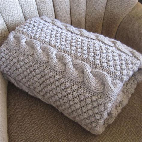 knitting pattern throw blackberry cables blanket throw afghan by ladyshipdesigns