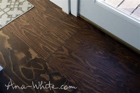 Stained Plywood Floor by How To Stain Plywood Floor Subfloor Flooring Tiny