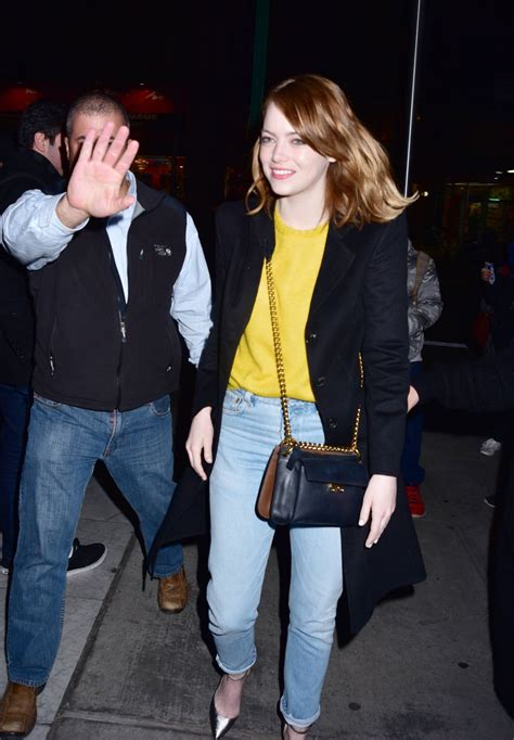 emma stone q and a emma stone arrives for a q a for la la land in new