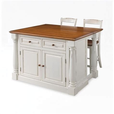 Island Stools For Kitchen Kitchen Island With Two Stools 5020 948