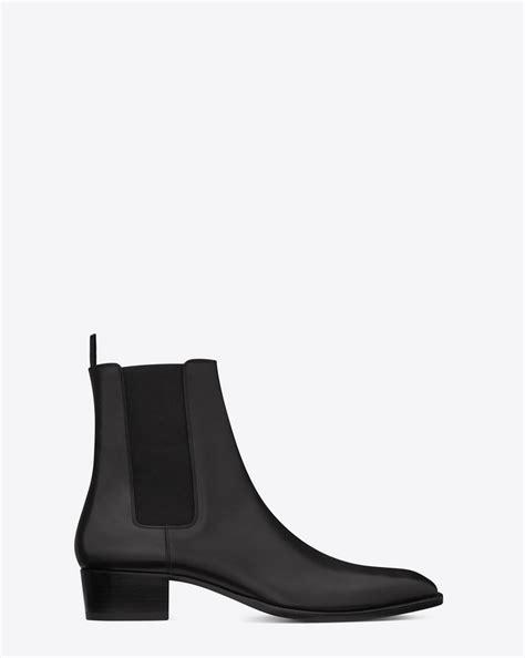 ysl chelsea boots laurent classic wyatt 40 chelsea boot in black