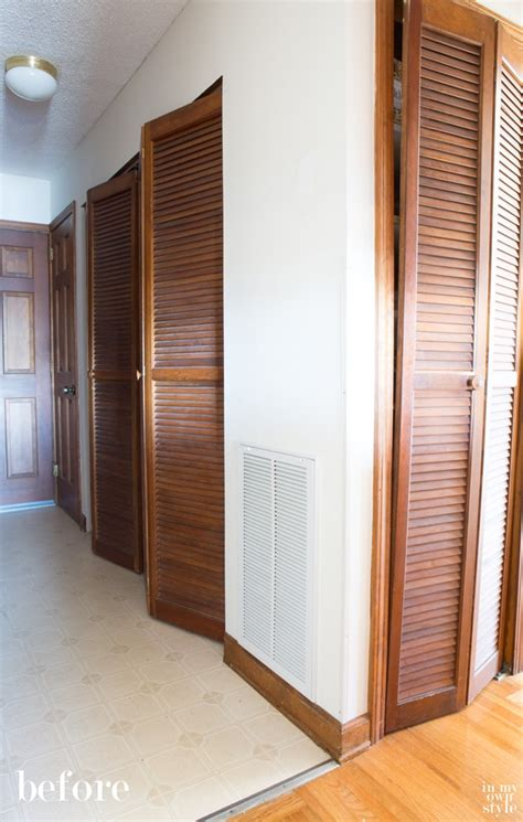 How To Paint Louvered Closet Doors How I Painted Louvered Doors In My Own Style
