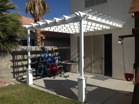 Ana White Pergola Attached Directly To The House Diy Pergola Attached To House