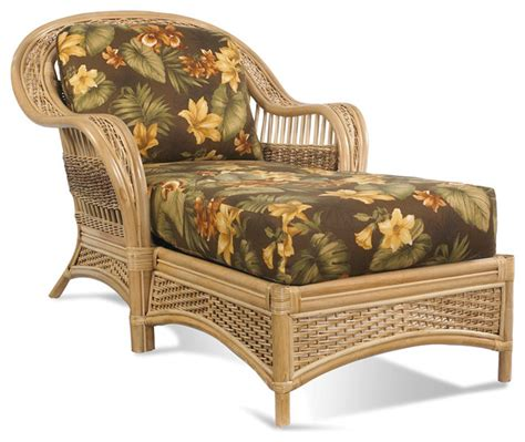 rattan chaise lounge indoor rattan chaise tropical breeze tropical indoor chaise