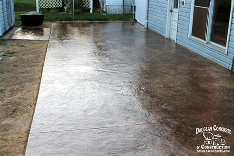 How To Clean Colored Concrete Patio by Sted Concrete