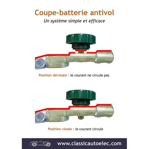 cosse de batterie antivol coupe batterie