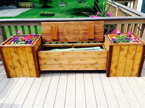 planters bench large storage bench w planters
