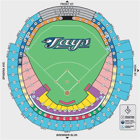 rogers centre seating plan for concerts blue jays seating chart rogers centre tickets rogers