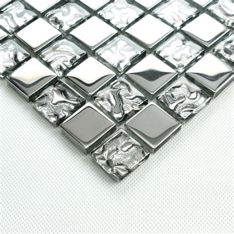 glass bathroom tiles ideas silver glass tile backsplash ideas bathroom mosaic tiles