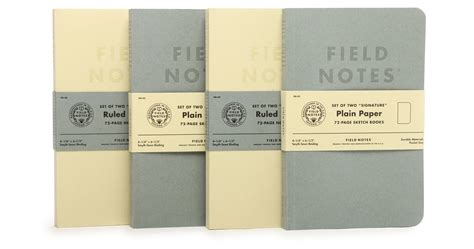 field note signature field notes