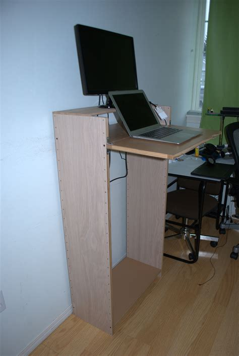 standing computer desk student home office non warping