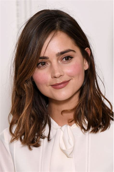 good haircuts for long straggly hair jenna louise coleman at bafta breakthrough brits in london