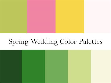 spring green color palette 2 wedding color palettes perfect for a spring wedding