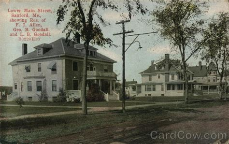 Sanford Maine Post Office by Lower Sanford Me Postcard