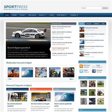 blogger themes sport sportpress wordpress sports blog theme