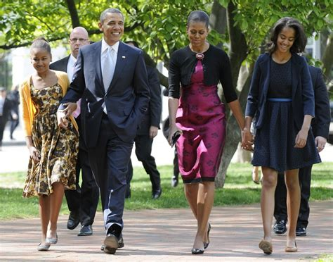 the first family obama family walk to historic church to attend easter