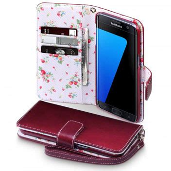 Samsung Galaxy S7 Edge Premium Casing Backcase Look Leather Tpu olixar leather style samsung galaxy s7 edge wallet