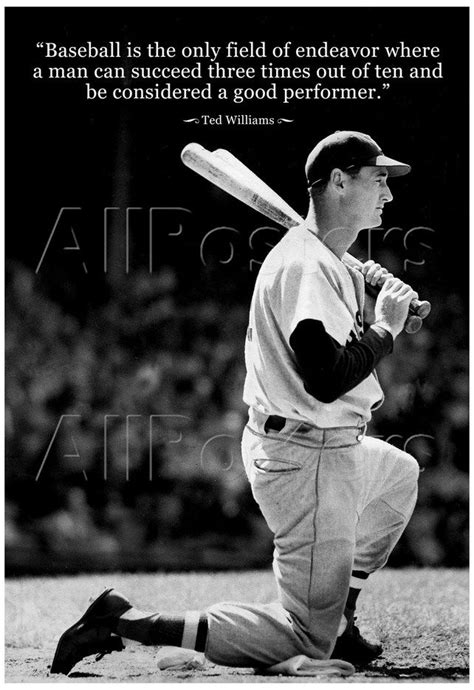 ted williams baseball famous quote archival photo poster posters confidence passion