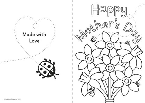 mothers day card templates to color free a diy s day card for ones ladybird