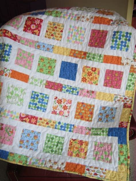 Crib Quilts Patterns by Pdf Baby Quilt Pattern And Easy 2 Charm Square Packs Or Quarters Flowers In The