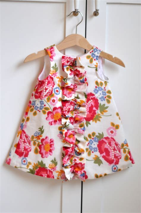 simple pattern for little girl dress ruffled chemise for baby and girls sewing pattern pdf instant