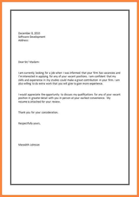 Cover Letter Application Template by 6 Application Letters For A Bussines 2017
