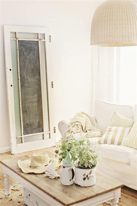 Nautical Bedroom by Beach Cottage White Slip Covered Sofa Coastal Beachy Decor