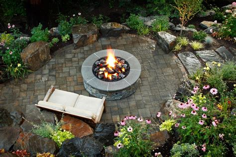 backyard landscaping fire pit photos hgtv