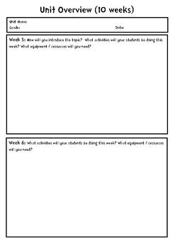 Editable Thematic Unit Planning Template By Teaching Products Tpt Thematic Lesson Plan Template