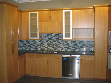 Flat Door Kitchen Cabinets | bamboo flat panel kitchen cabinets contemporary san