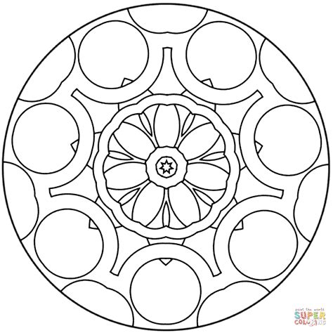 simple mandala coloring pages pdf simple abstract mandala coloring page free printable
