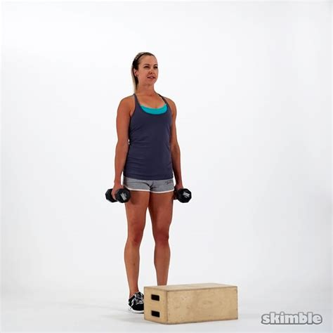 step up bench exercise dumbbell bench step ups exercise how to skimble