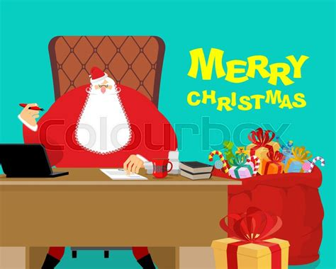 gifts for desk at work merry santa claus at work big bag with