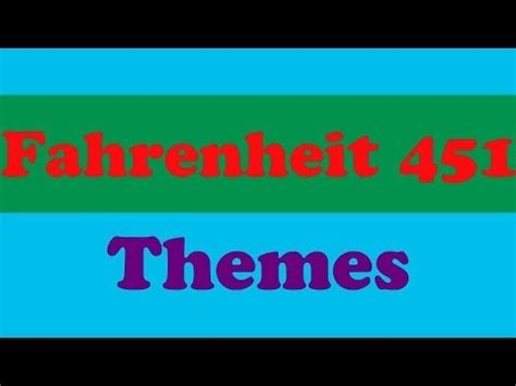 important themes of fahrenheit 451 base knowledge literature fahrenheit 451 themes youtube