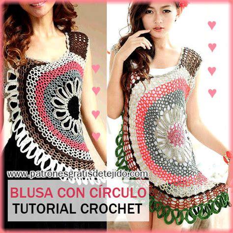 blusa rosada tejida con motivos a crochet paso a paso tejidos milagros ena como tejer blusa crochet con motivo circular paso a paso
