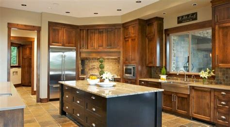 Natural Wood Kitchen Island by 26 Craftsman Kitchens That Will Have You Loving Natural Wood