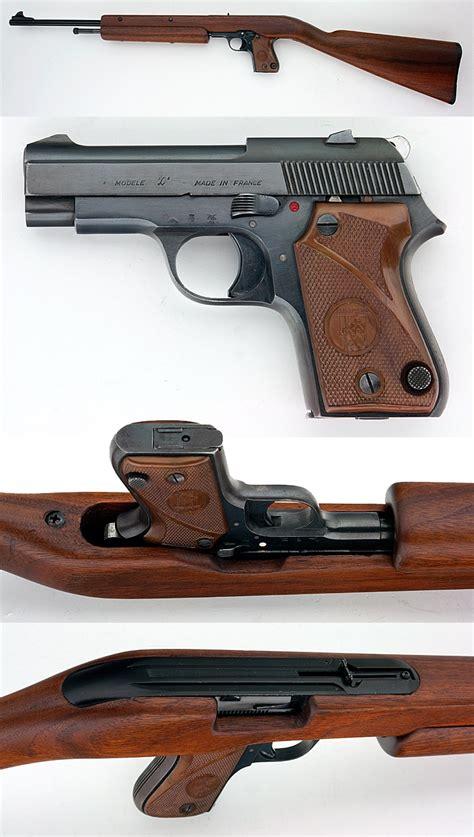 Pistol L by Unique Model L Semiauto Pistol Carbine Combo Gun 22 Lr