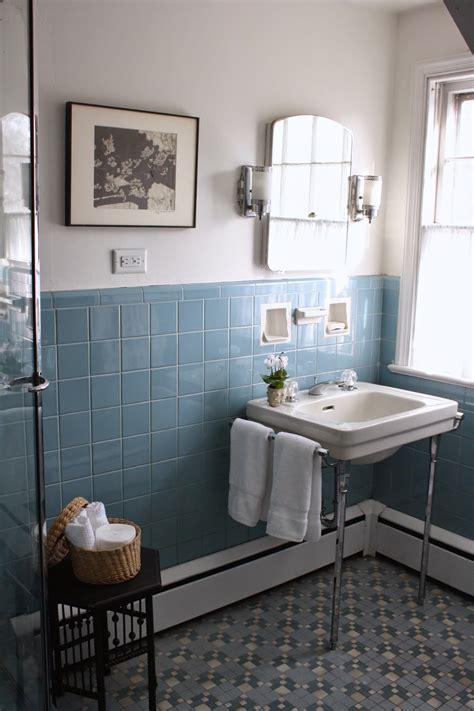 vintage blue bathroom tiles ideas  pictures