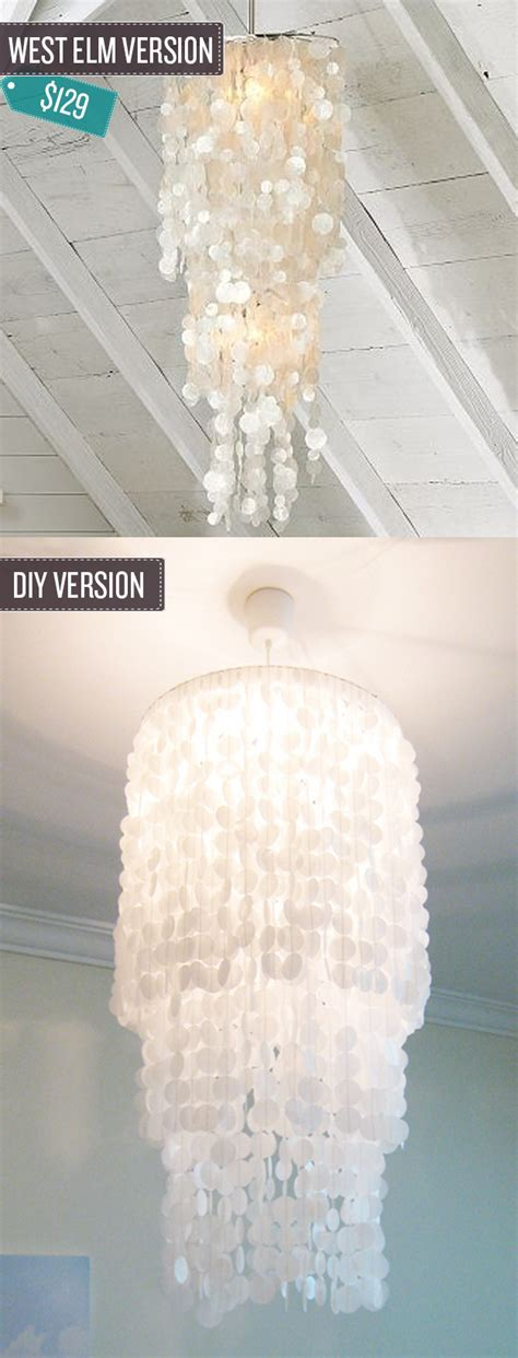 Wax Paper Chandelier Build A Shell Pendant Chandelier Out Of Wax Paper West Elm Hack House Decorators