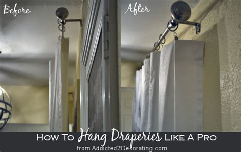 hang draperies  curtains   designer