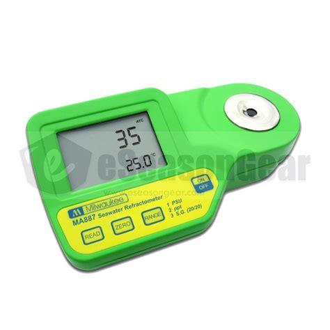 Salinity Meter milwaukee ma887 digital refractometer salinity meter sea salt water tester ebay