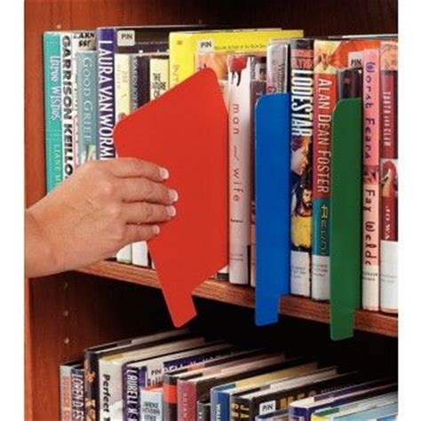 Library Shelf Dividers by Shelves Markers And Book On