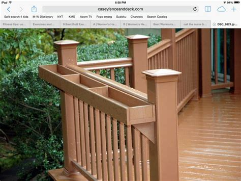 deck rail planter boxes gardening everything pinterest