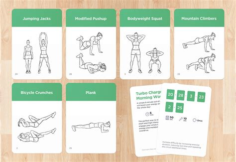 printable exercise program cards exercise cards by workoutlabs work out anywhere