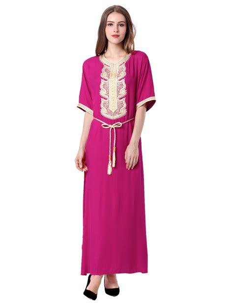 Dress Wanita Maxi Dress Muslim 1 s maxi muslim dubai dress moroccan kaftan caftan jilbab islamic abaya muslim abaya
